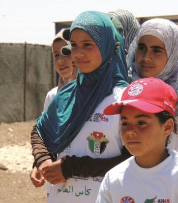 Football in the <b>Za'atari</b> refugee camp