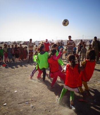 UEFA Foundation for Children defends child refugees' rights