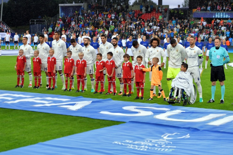 UEFA Super Cup Final, August 9, 2016 in Trondheim, Norway.