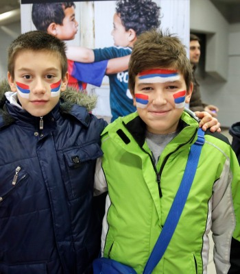 Kids from Belgrade at UEFA Futsal EURO 2016