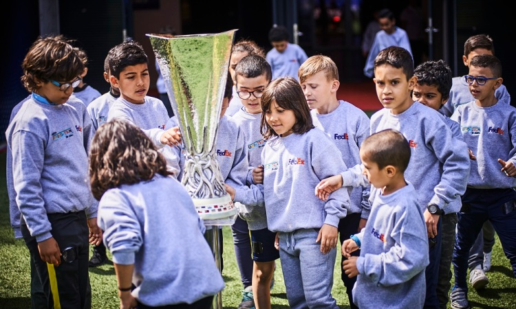 Dreams made possible for Lyon children at UEFA Europa League final 2018