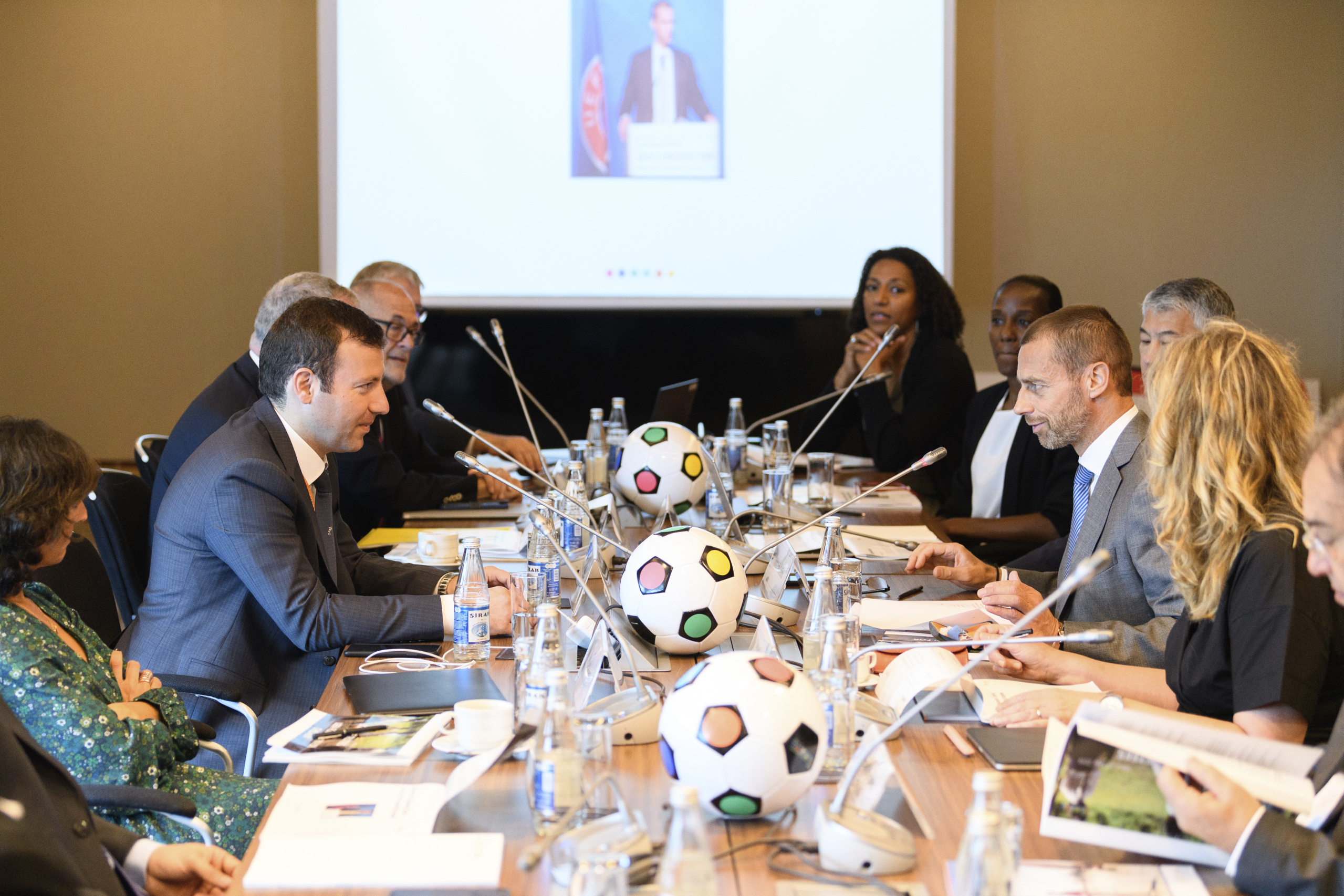 BAKU, AZERBAIJAN - MAY 29: UEFA Foundation for Children Board meeting on May 29, 2019 in Baku, Azerbaijan. (Photo by Harold Cunningham - UEFA/UEFA via Getty Images)