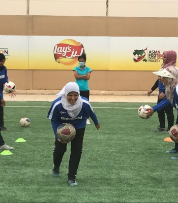 Football in the Azraq refugee camp