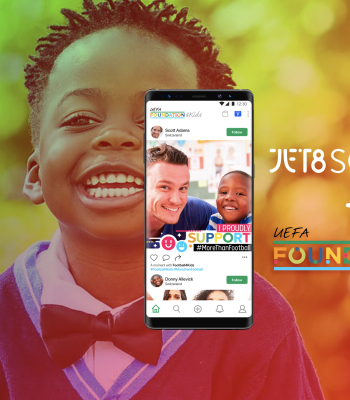 JET8 Foundation and UEFA Foundation for Children launch football Social Commerce App aimed to make a difference in children's lives