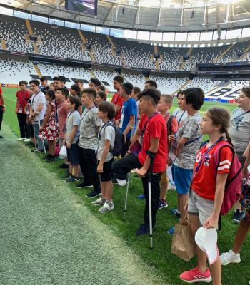Amputee kids stand for equality at Super Cup final
