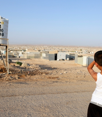 Football in Zaatari refugee camp