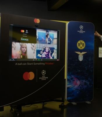 Children meet UEFA Champions League stars virtually before kick-off