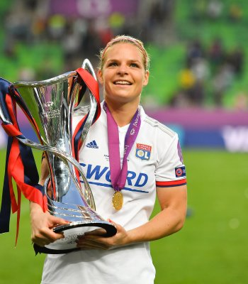 Eugénie Le Sommer supports the UEFA Foundation for Children