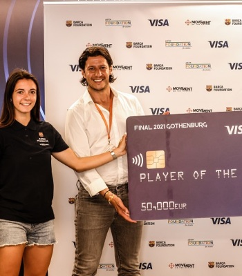 Visa donates another €50,000 to UEFA Foundation-backed charity