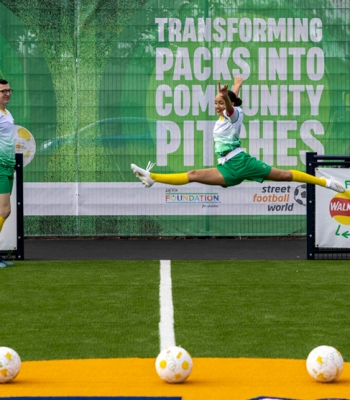 Lay's RePlay opens Leicester football pitch from upcycled crisp packets